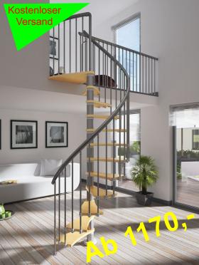 spindeltreppen punkten als blickfang treppenparadies. Black Bedroom Furniture Sets. Home Design Ideas