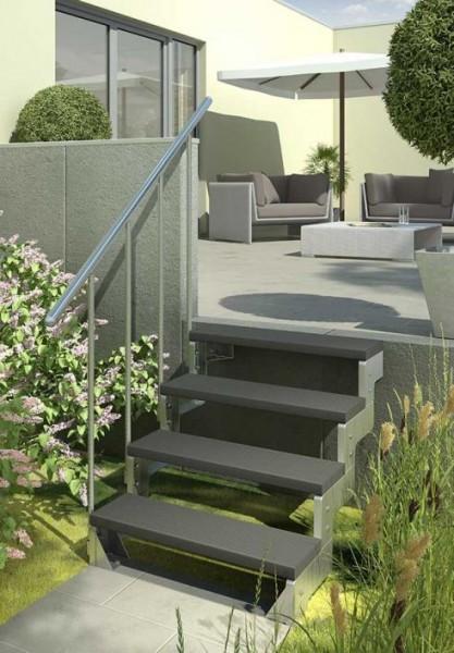 Gardentop - Gartentreppe - Außentreppe für den Garten - Stufen Trimax anthrazit
