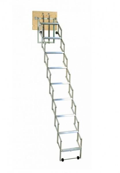 Dachbodentreppe Alu Fix mit Stirnbrett