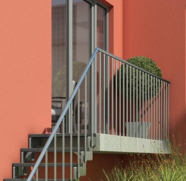 Gardentop - Treppengeländer für die Außentreppe