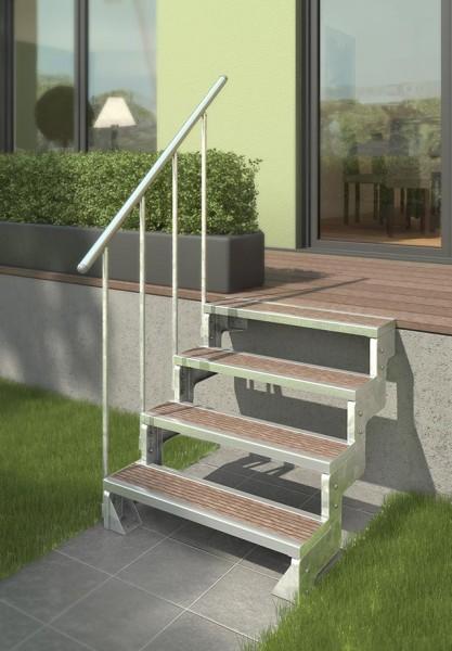 Gardentop - Gartentreppe - Außentreppe für den Garten - Einlegestufen