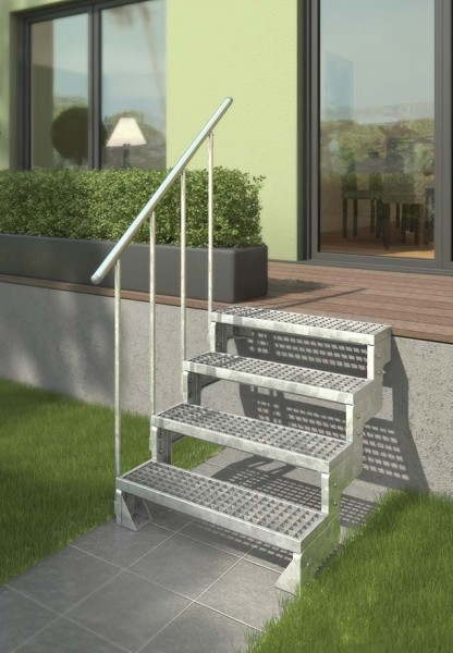 Gardentop - Gartentreppe - Außentreppe für den Garten - Stufen Gitterrost