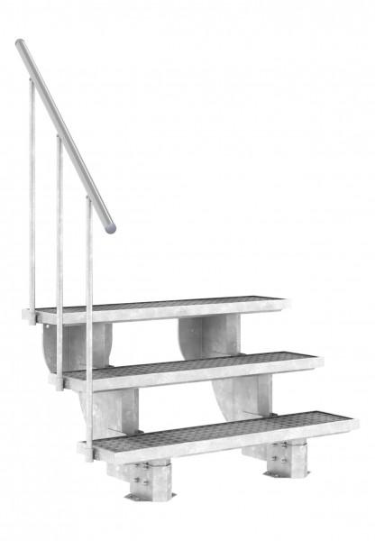 Gardenstep - Gartentreppe - Außentreppe für die Terasse mit Stufen aus Trimax Gitterrost